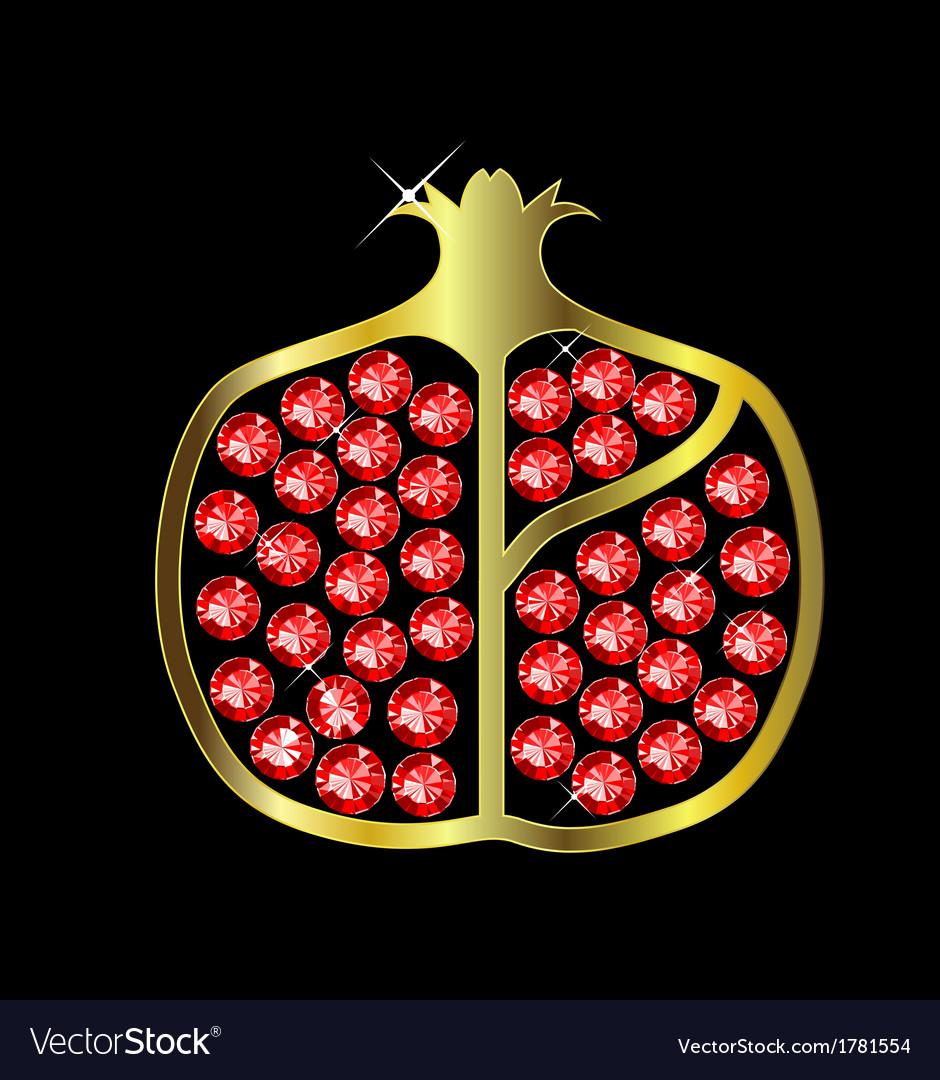 Gem pomegranate vector | Price: 1 Credit (USD $1)