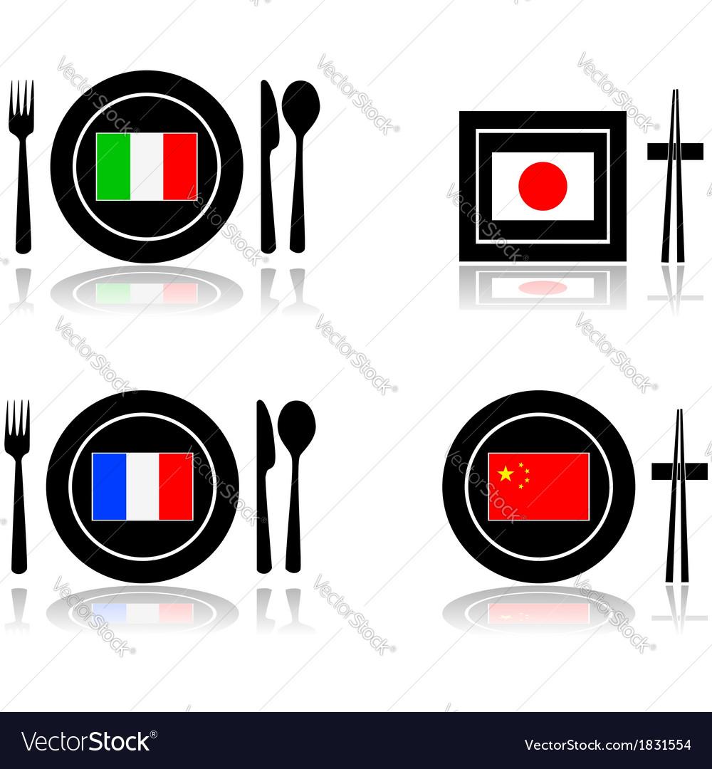 International cuisine vector | Price: 1 Credit (USD $1)