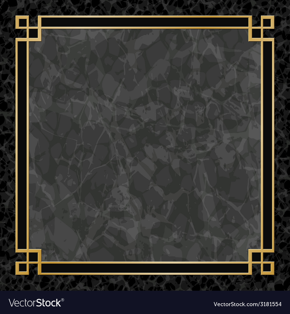 Marble backgrounds with gold frame vector | Price: 1 Credit (USD $1)