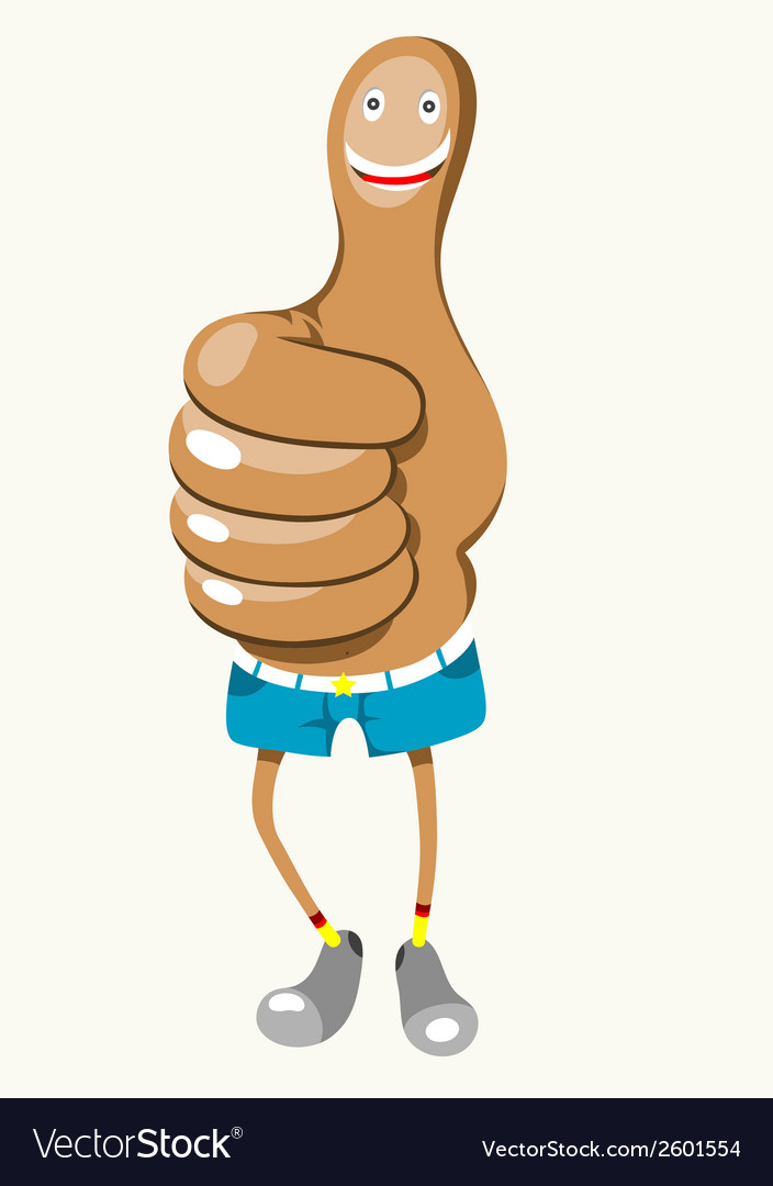 Mr thumbs up vector | Price: 1 Credit (USD $1)