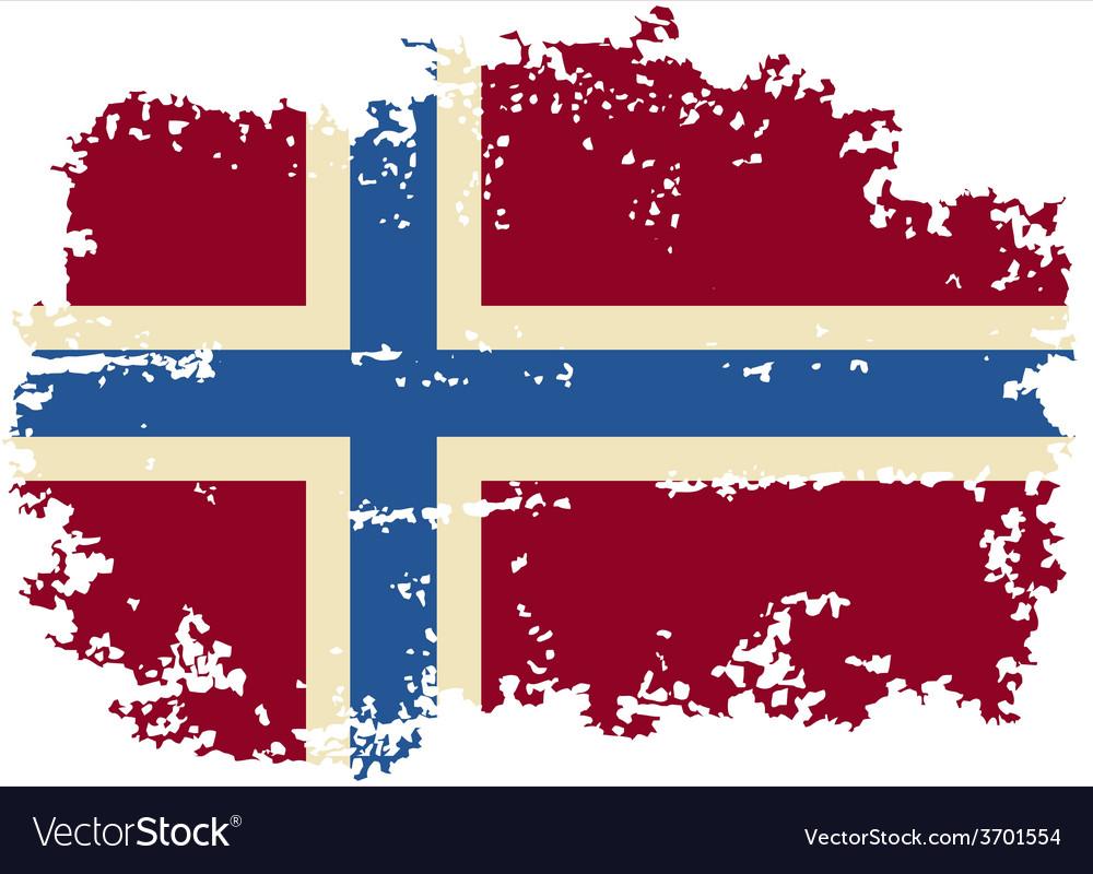 Norwegian grunge flag vector | Price: 1 Credit (USD $1)