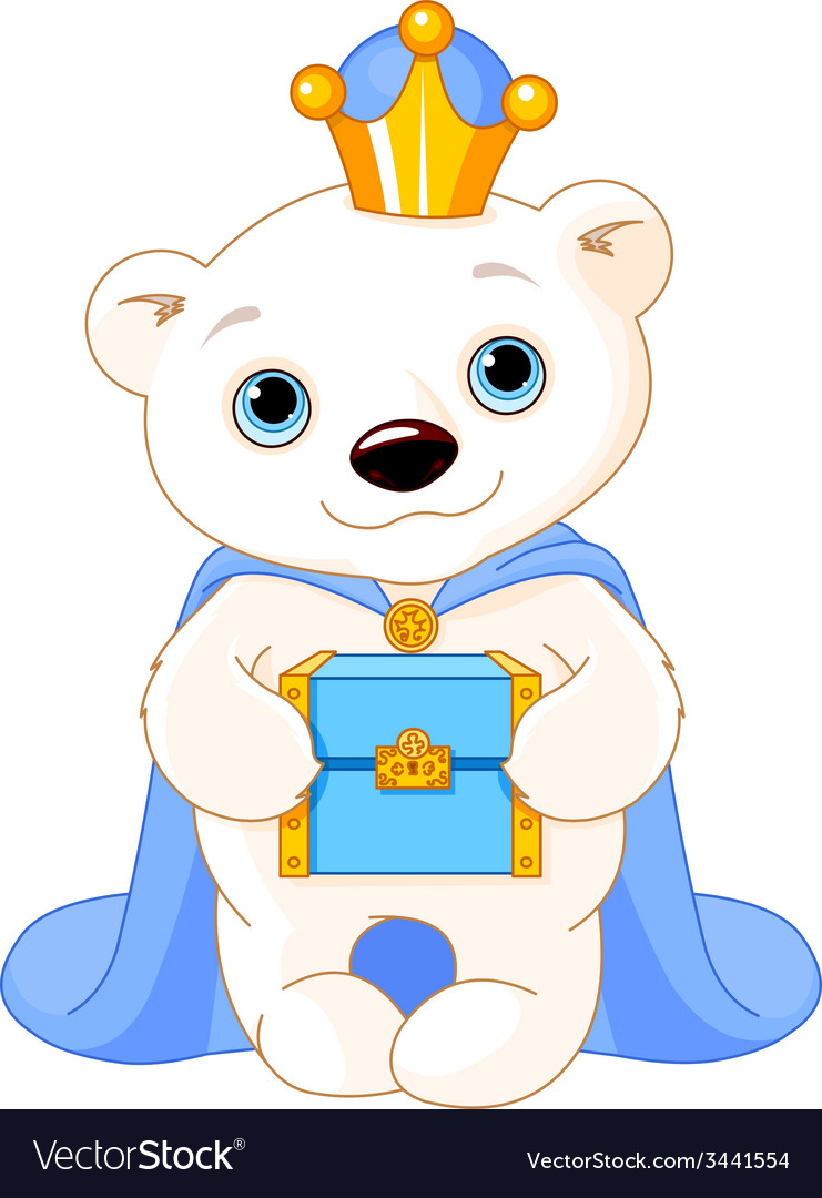 The polar bear as a biblical magi vector | Price: 3 Credit (USD $3)