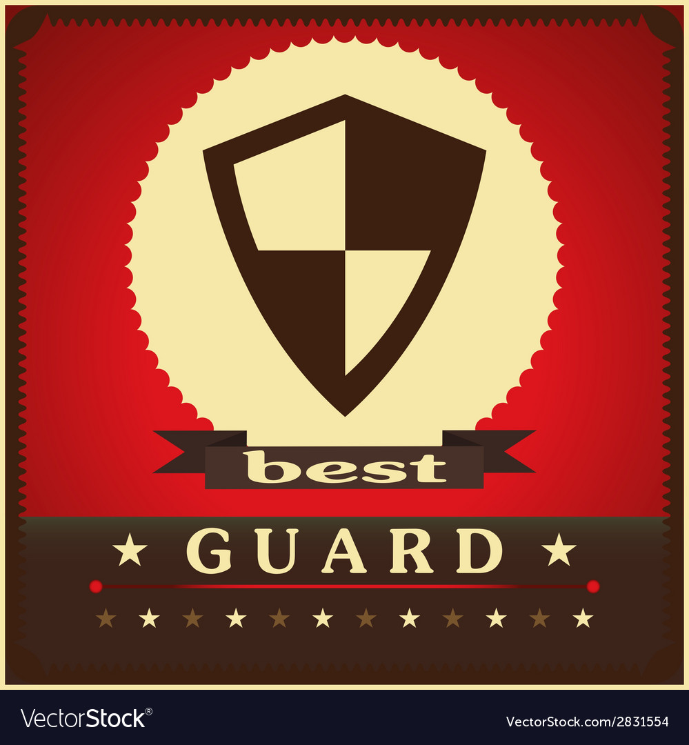 Protection shield sign concept style design vector | Price: 1 Credit (USD $1)