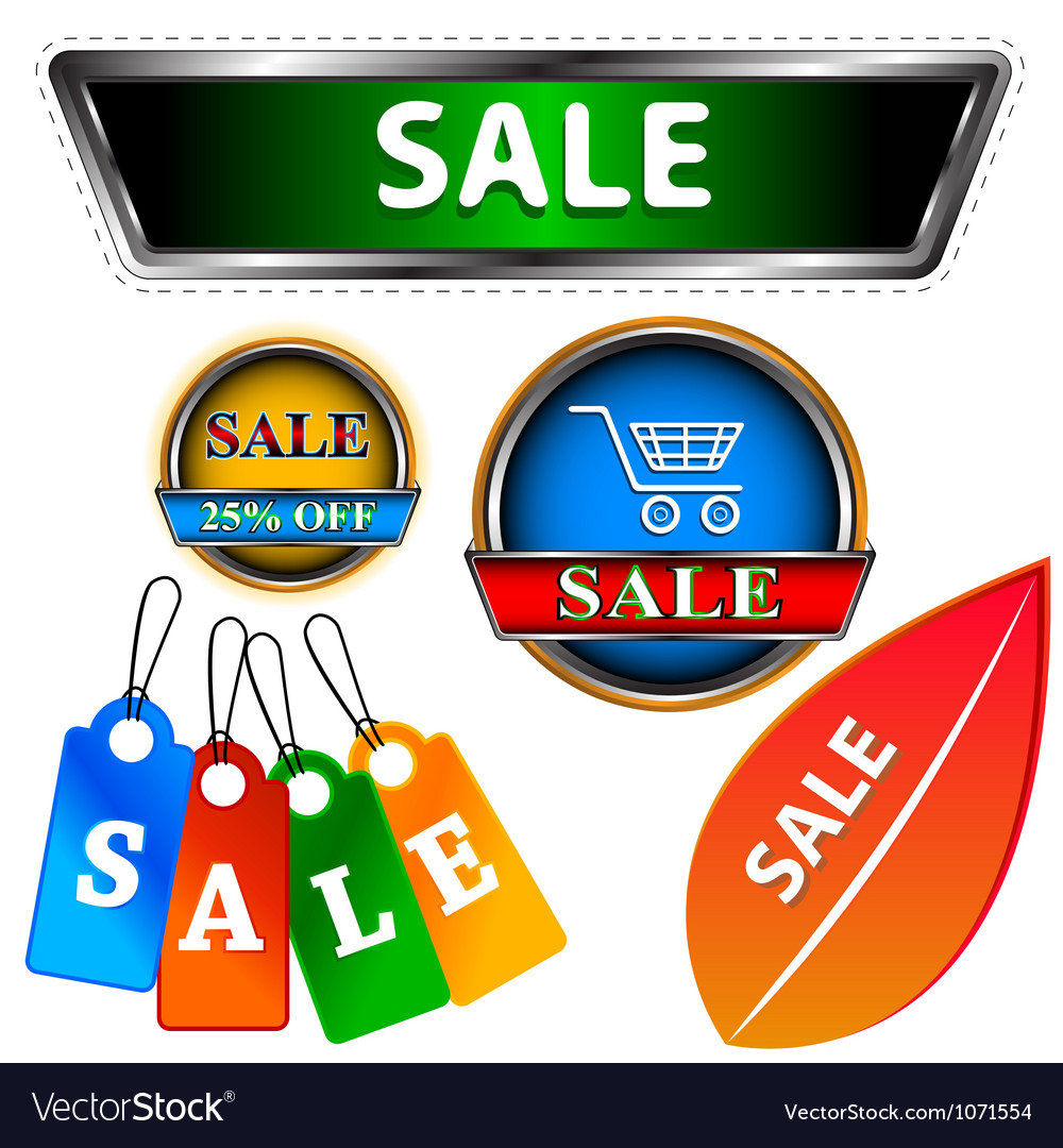 Sale logo set vector | Price: 1 Credit (USD $1)