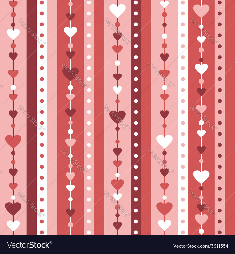 Seamless background with hearts vector | Price: 1 Credit (USD $1)