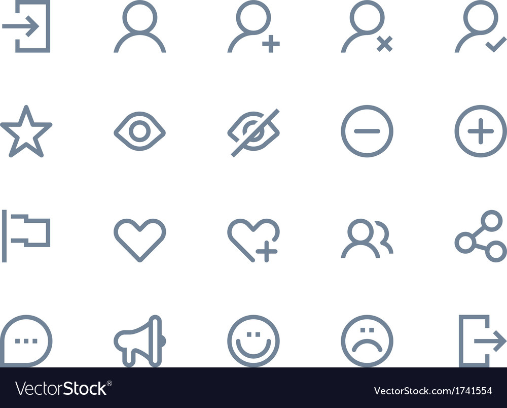 Social and communication icons vector | Price: 1 Credit (USD $1)