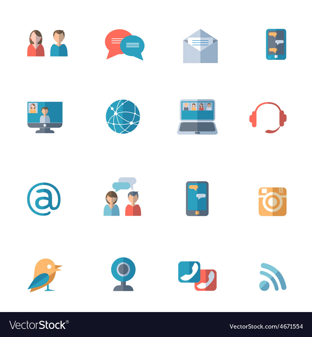 Social networks icons set vector | Price: 1 Credit (USD $1)