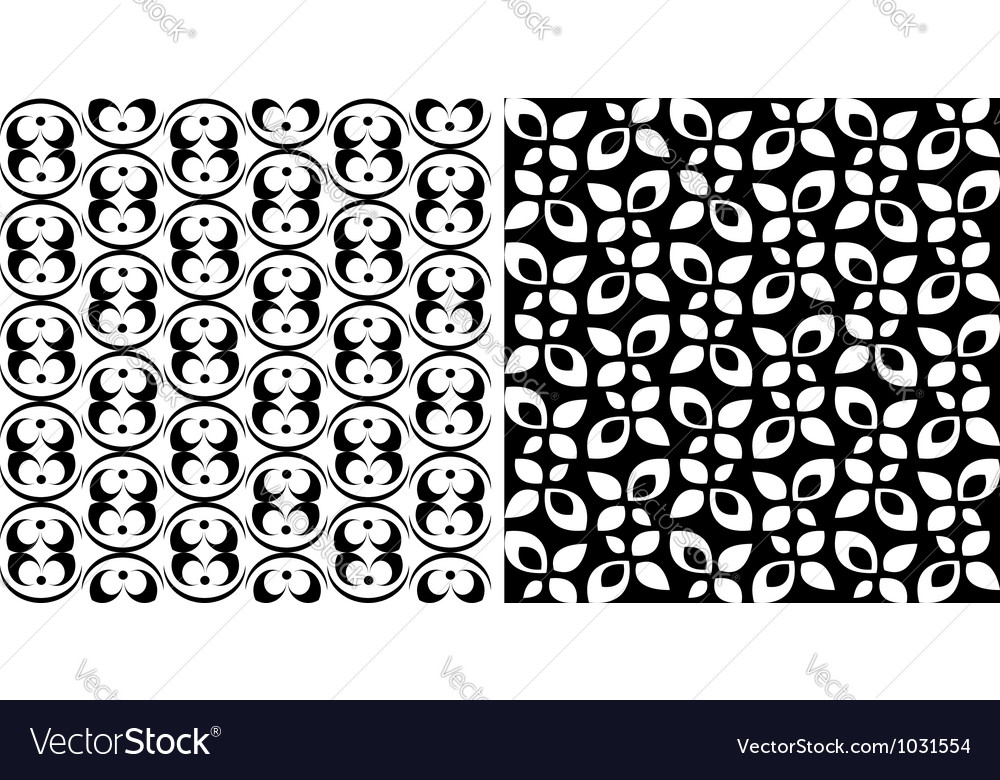 Two seamless backgrounds with ornamental patterns vector | Price: 1 Credit (USD $1)