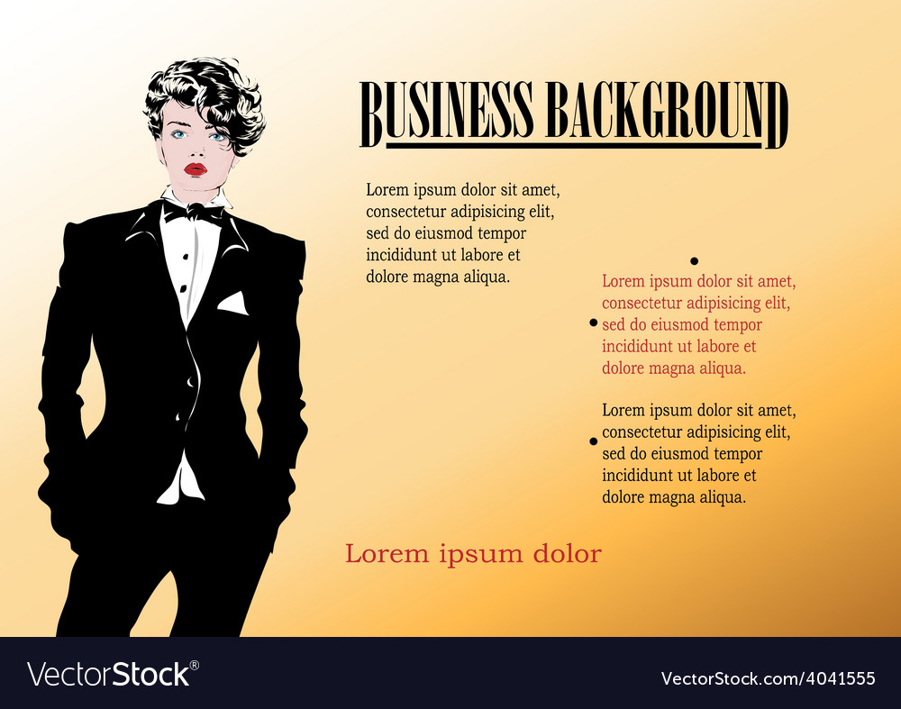 Beautiful businesswoman vector | Price: 1 Credit (USD $1)