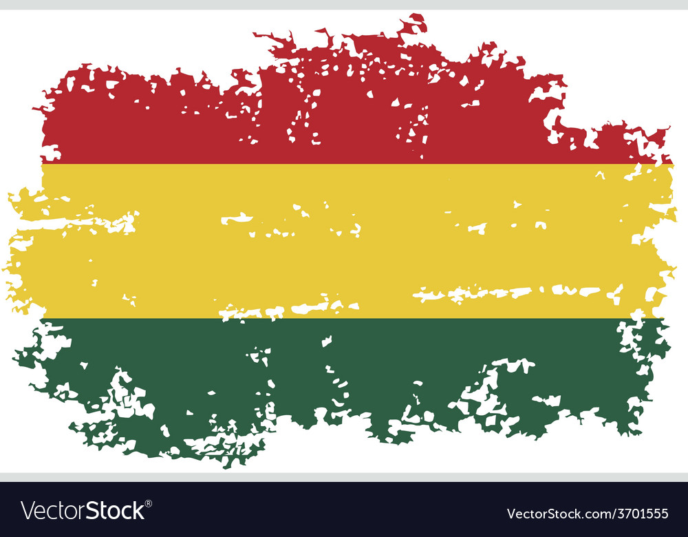 Bolivian grunge flag vector | Price: 1 Credit (USD $1)