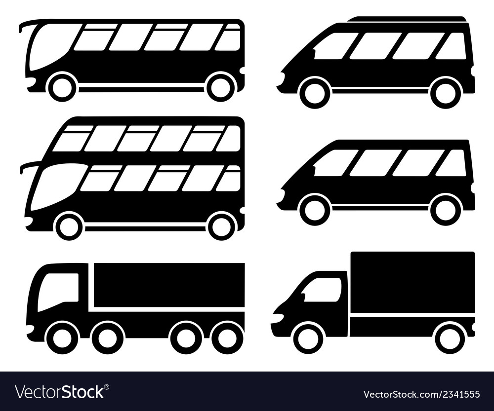 Cargo transport set vector | Price: 1 Credit (USD $1)