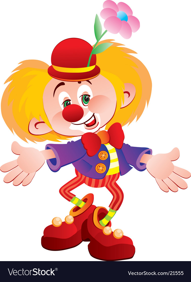 The cheerful clown vector | Price: 3 Credit (USD $3)