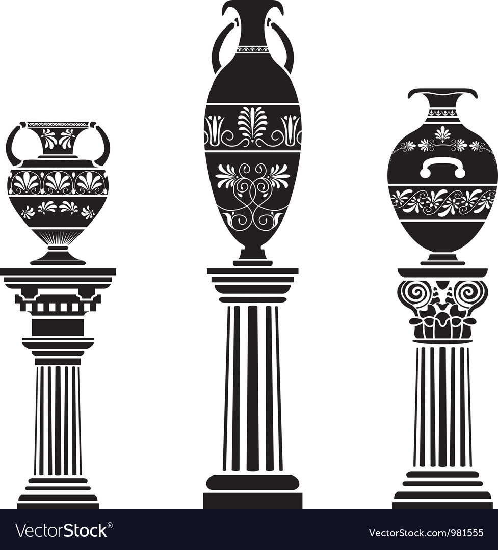 Greek vases vector | Price: 1 Credit (USD $1)