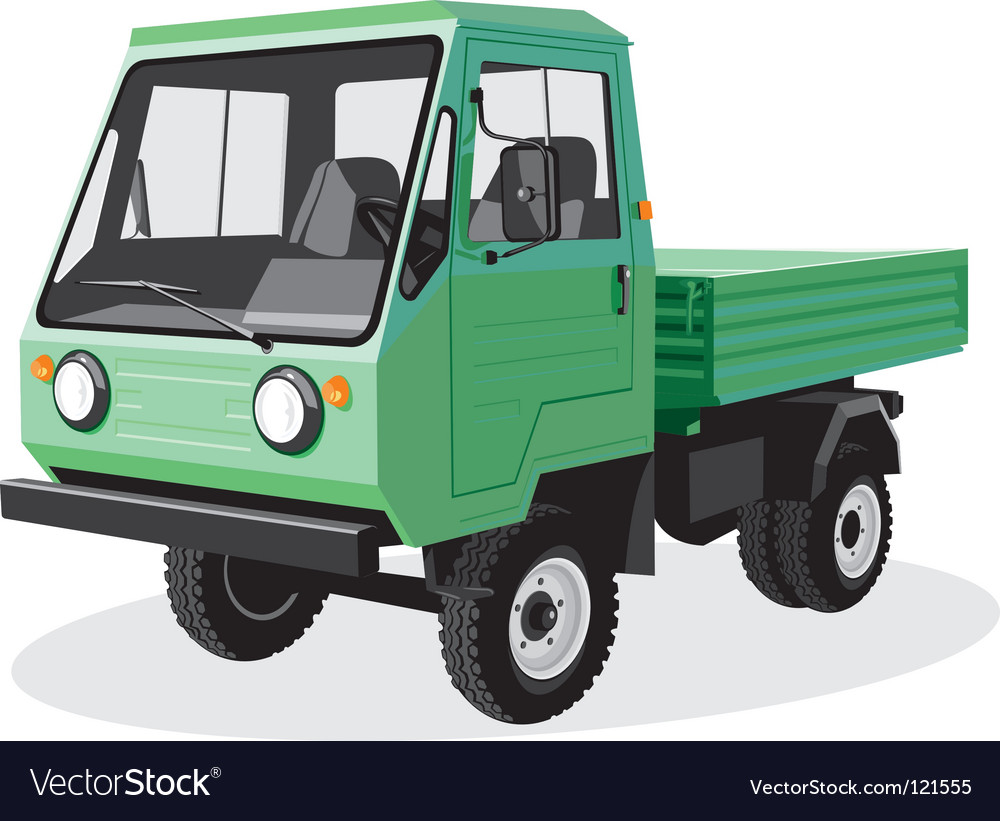 Green truck vector | Price: 1 Credit (USD $1)