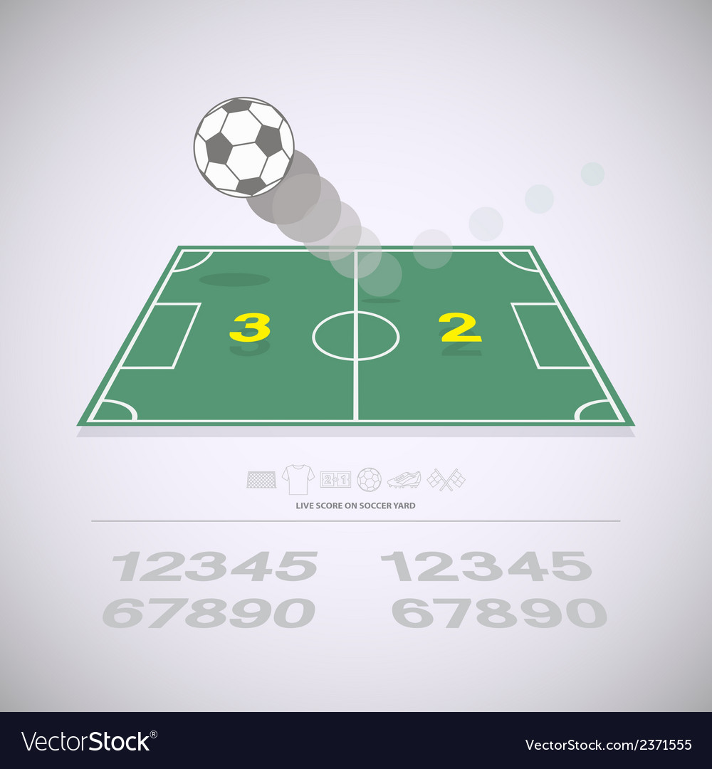 Live score on soccer yard vector | Price: 1 Credit (USD $1)