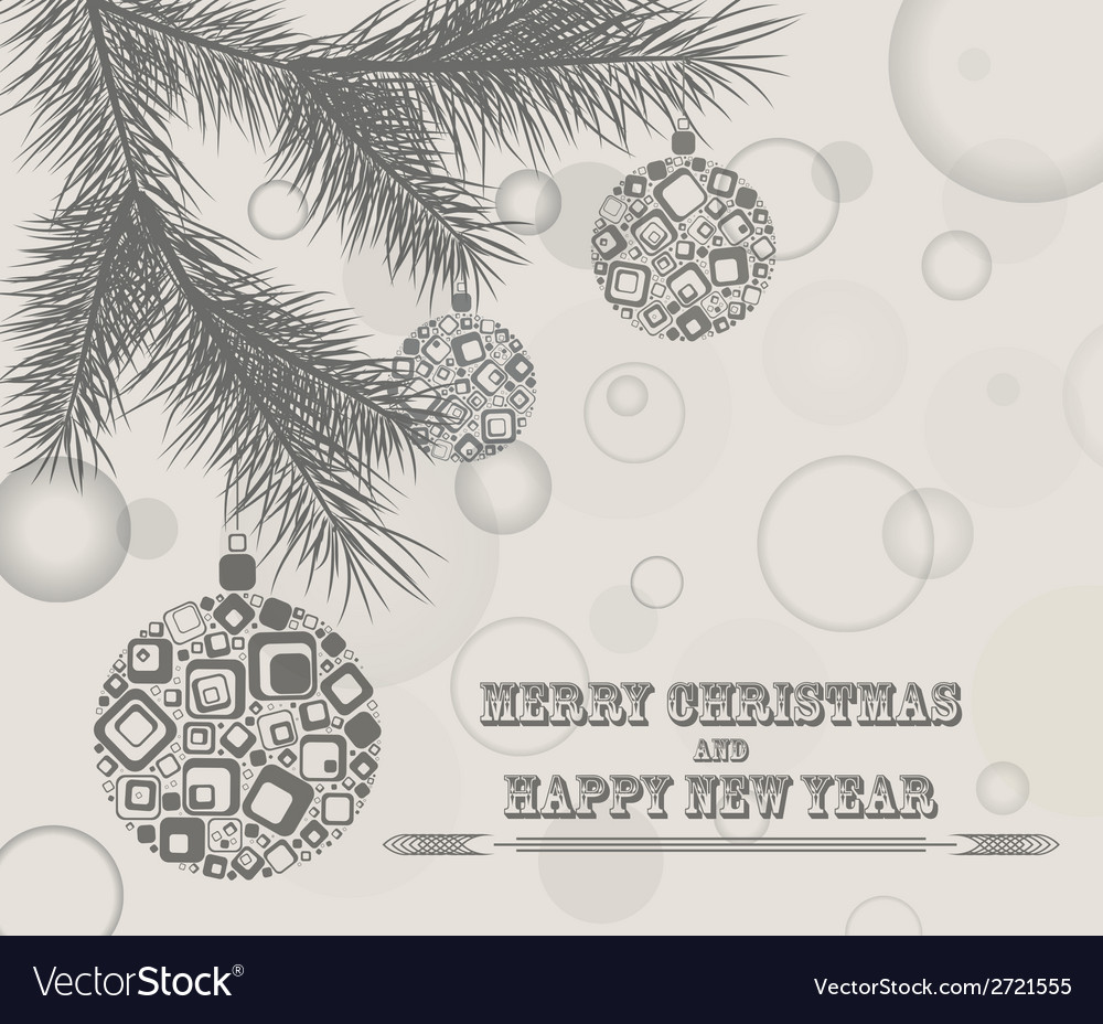Merry christmas design greeting card vector | Price: 1 Credit (USD $1)