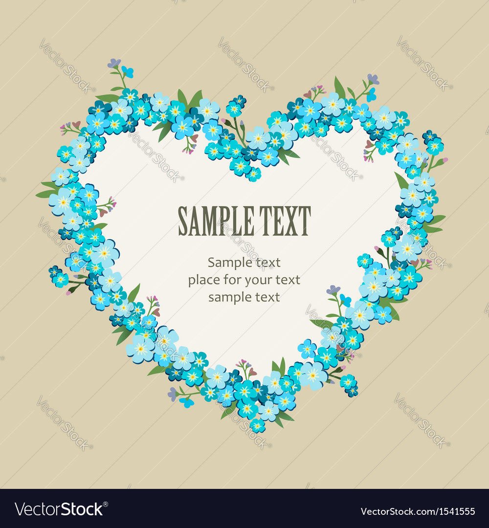 Retro flower frame vector | Price: 1 Credit (USD $1)