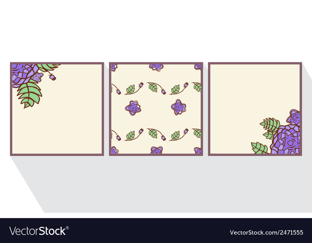Set of cards with abstract roses vector   Price: 1 Credit (USD $1)