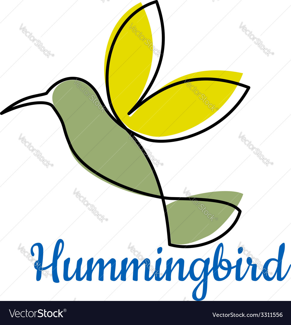 Abstract outline hummingbird symbol vector | Price: 1 Credit (USD $1)