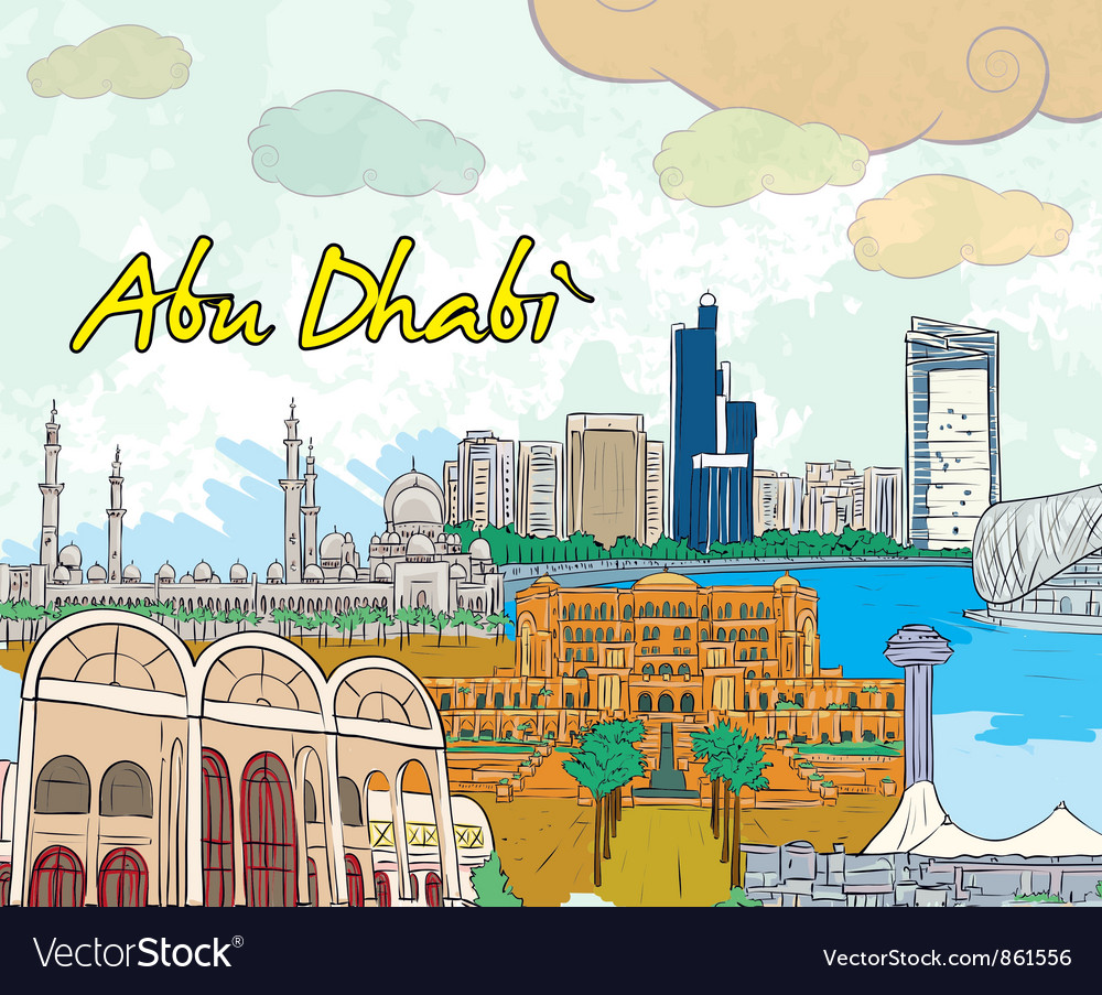 Abu dhabi doodles vector | Price: 3 Credit (USD $3)