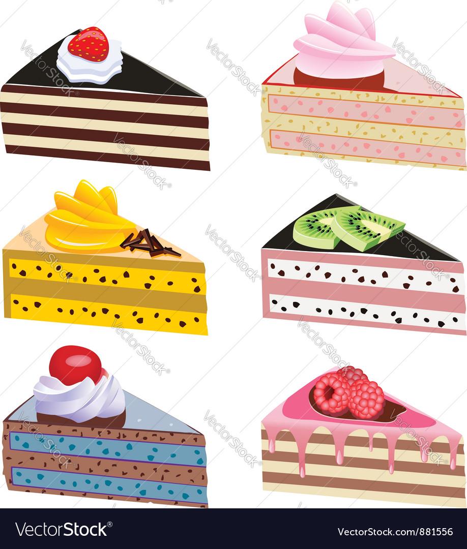 Cake slices vector | Price: 1 Credit (USD $1)