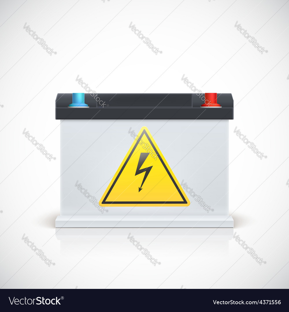 Car battery front view vector   Price: 1 Credit (USD $1)