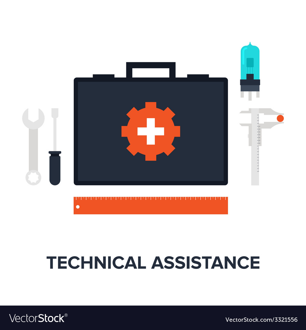 Technical assistance vector | Price: 1 Credit (USD $1)