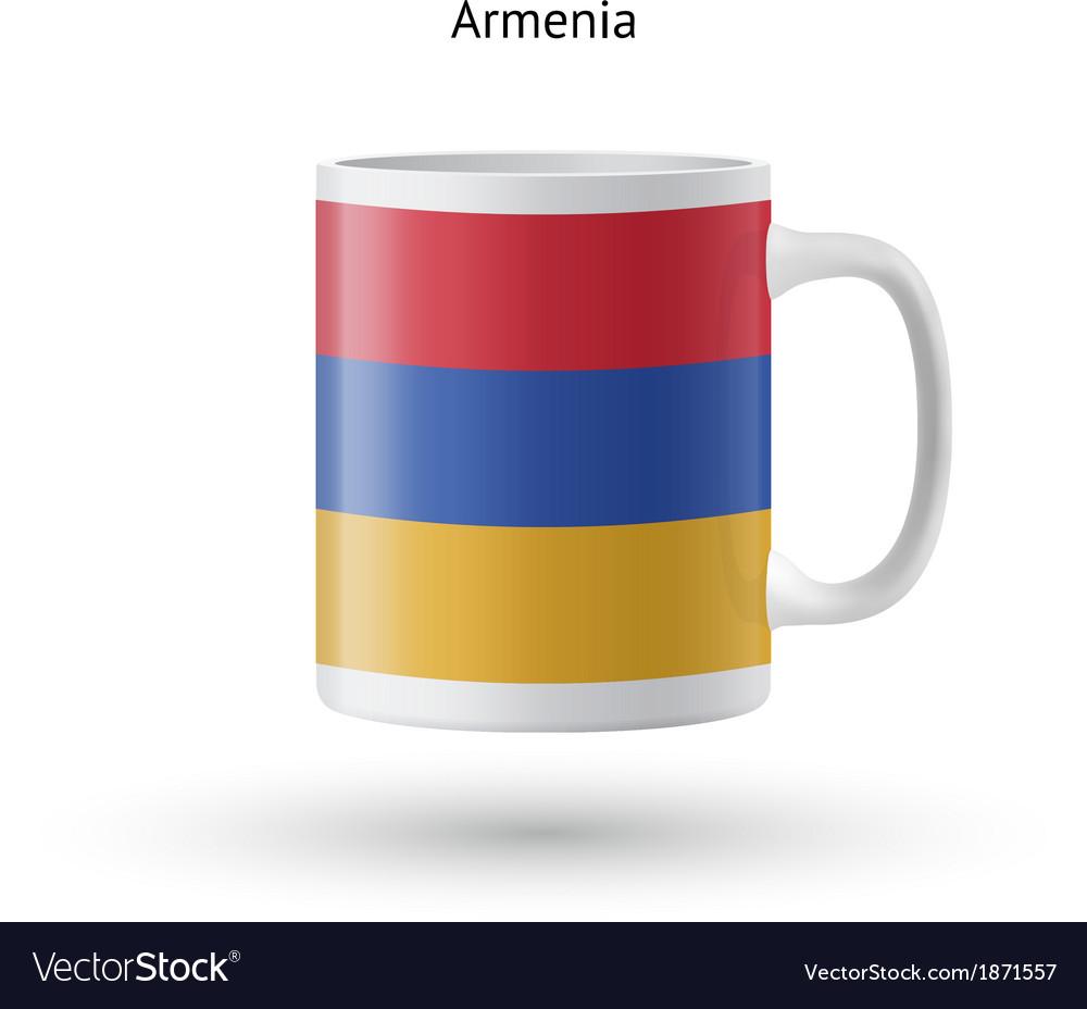 Armenia flag souvenir mug on white background vector   Price: 1 Credit (USD $1)