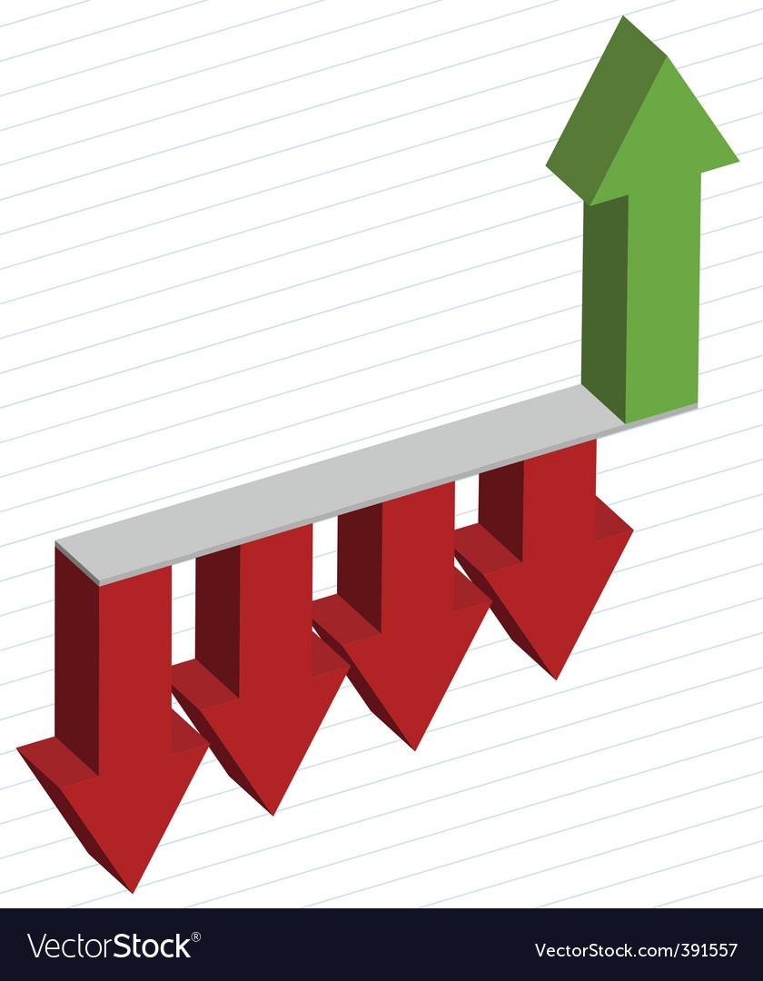 Arrows diagram vector | Price: 1 Credit (USD $1)