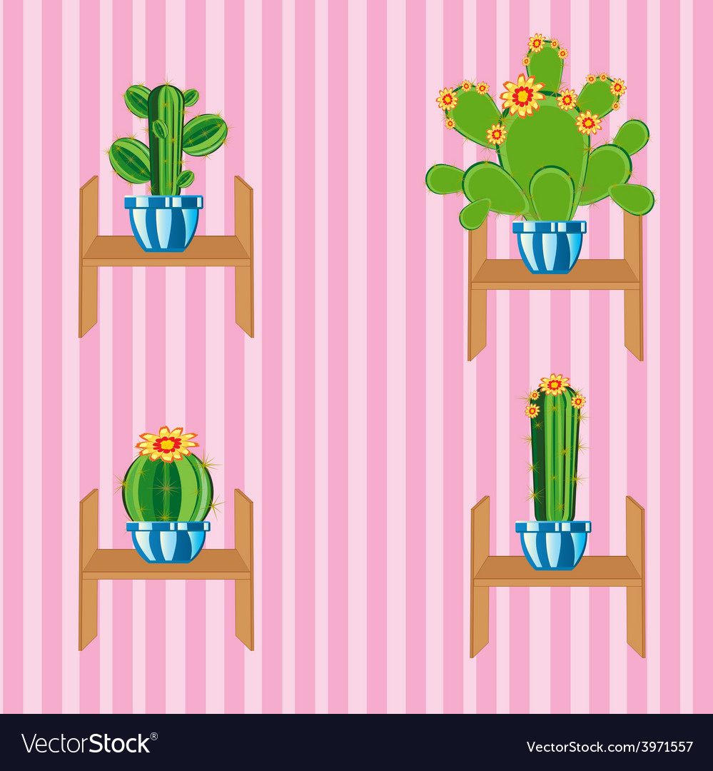 Cactuses on regiment vector | Price: 1 Credit (USD $1)
