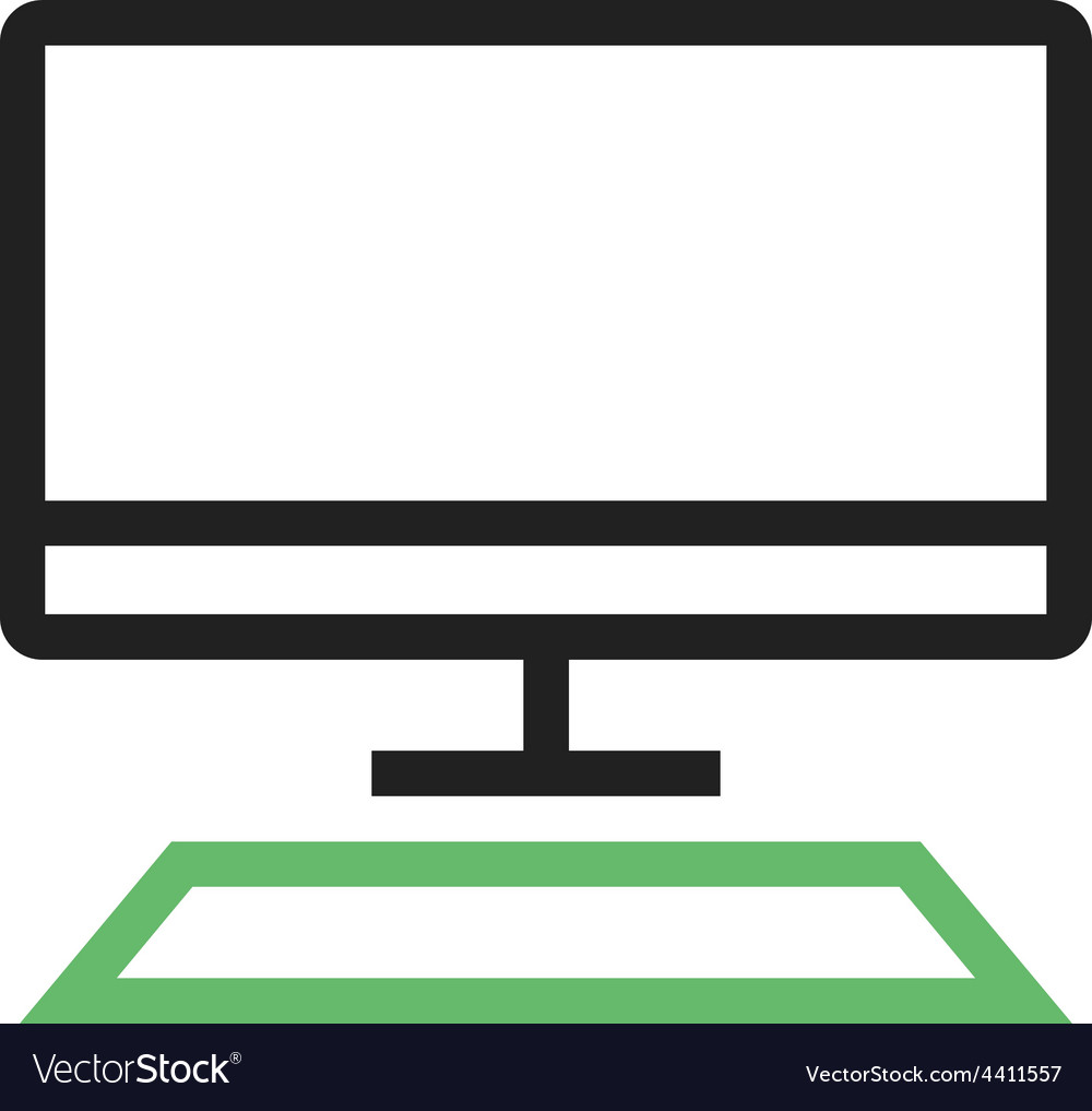 Desktop vector | Price: 1 Credit (USD $1)