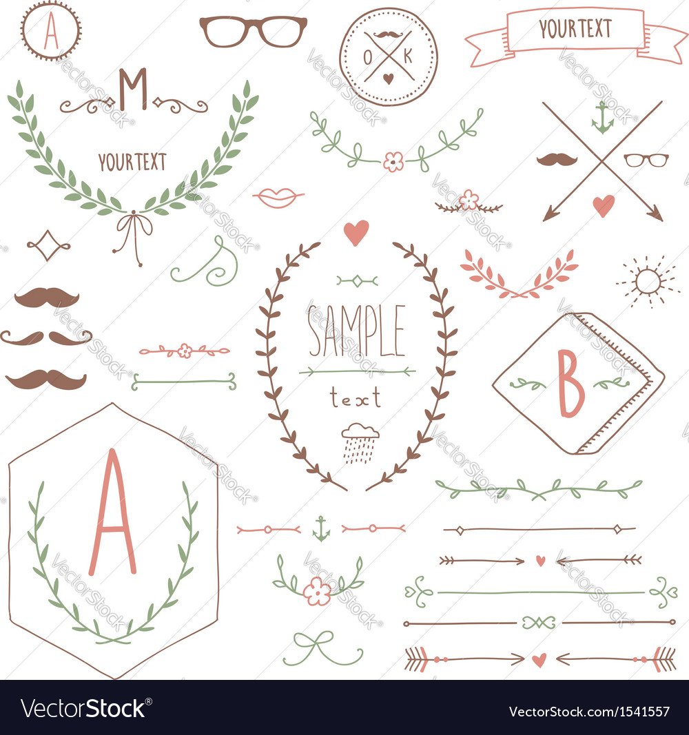 Hipster set vector | Price: 1 Credit (USD $1)