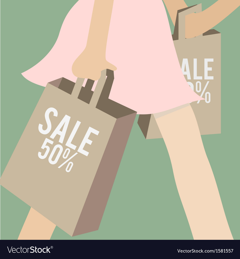 Sale and shopping vector | Price: 1 Credit (USD $1)