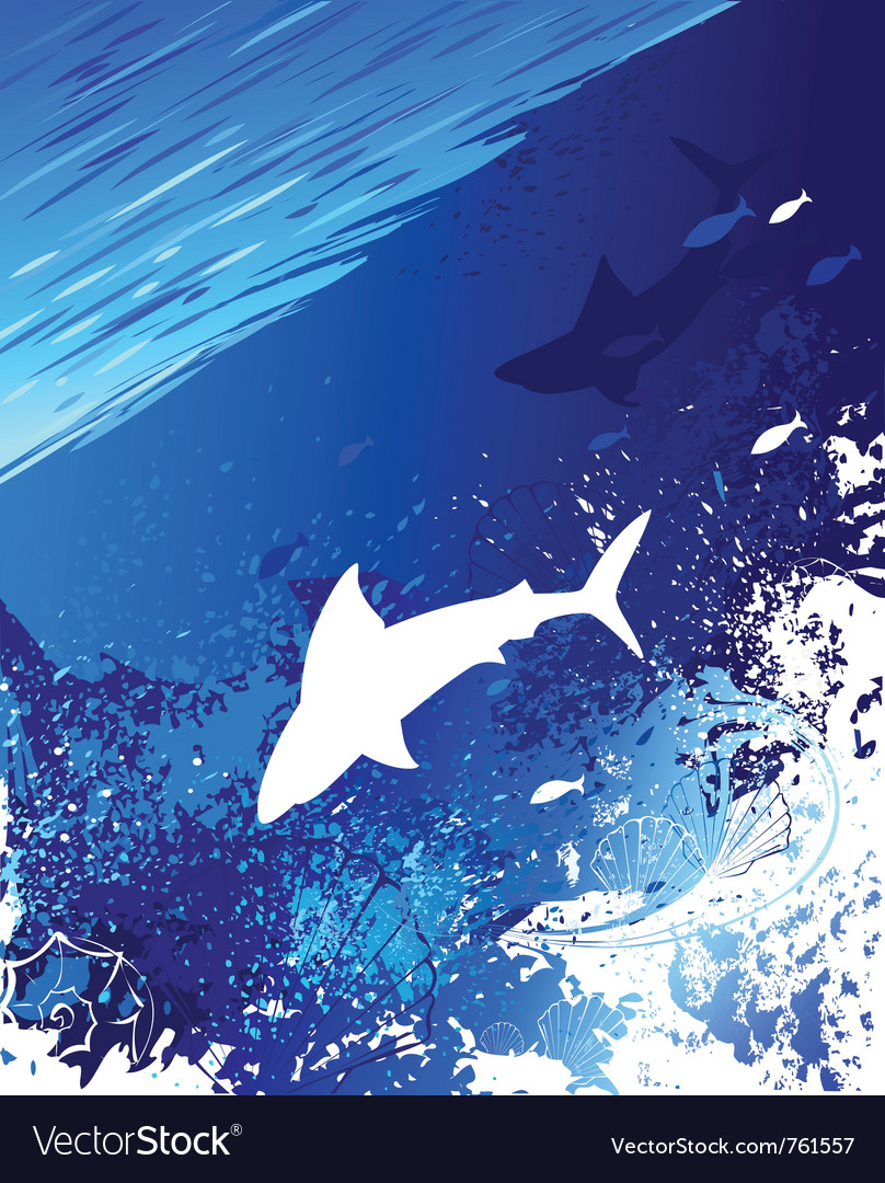 Sea underwater background vector | Price: 1 Credit (USD $1)