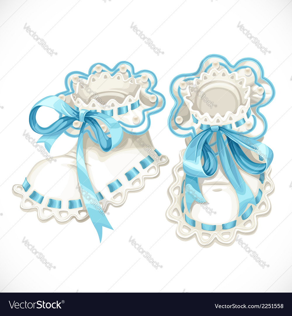 Blue booties for newborn vector | Price: 1 Credit (USD $1)