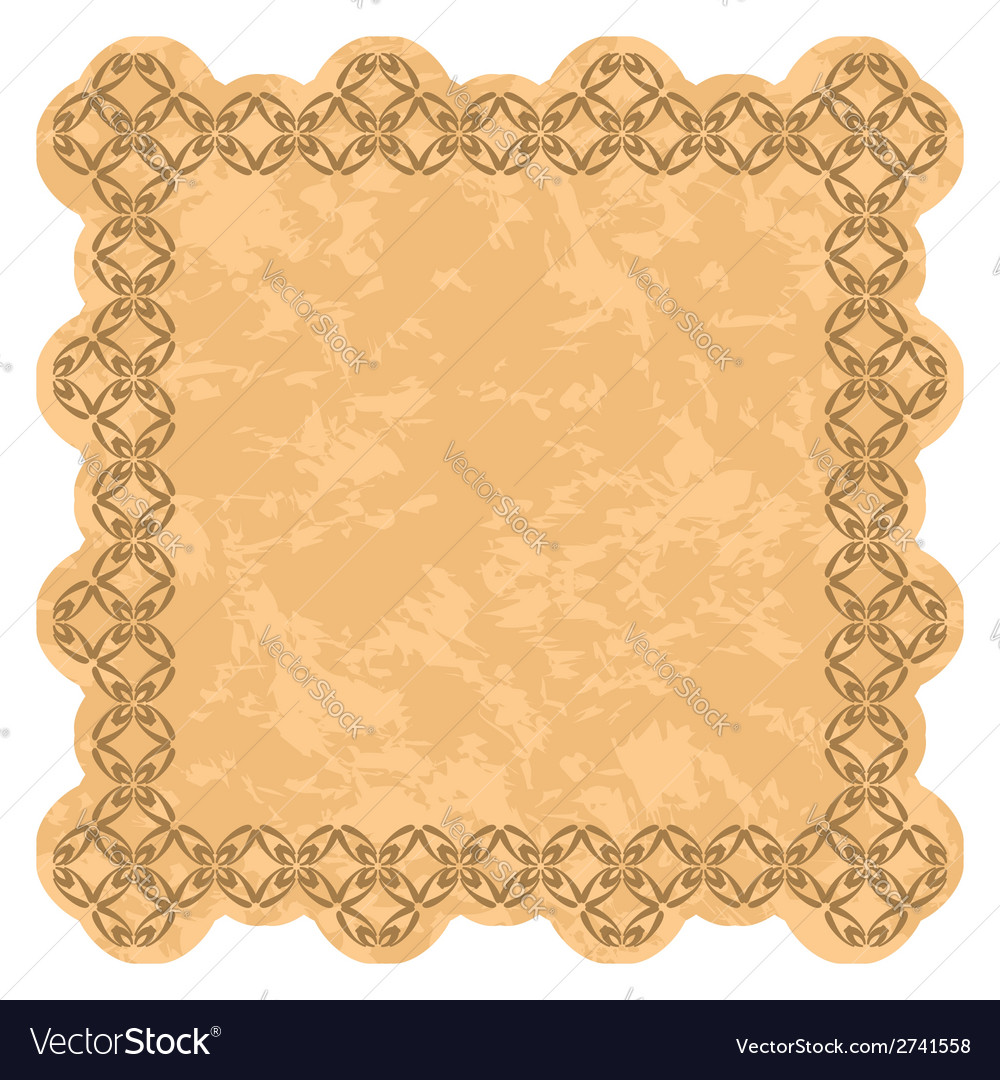 Brown frame with grunge background vector | Price: 1 Credit (USD $1)