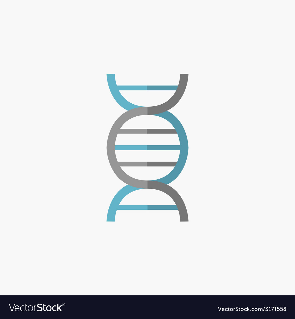 Dna flat icon vector | Price: 1 Credit (USD $1)