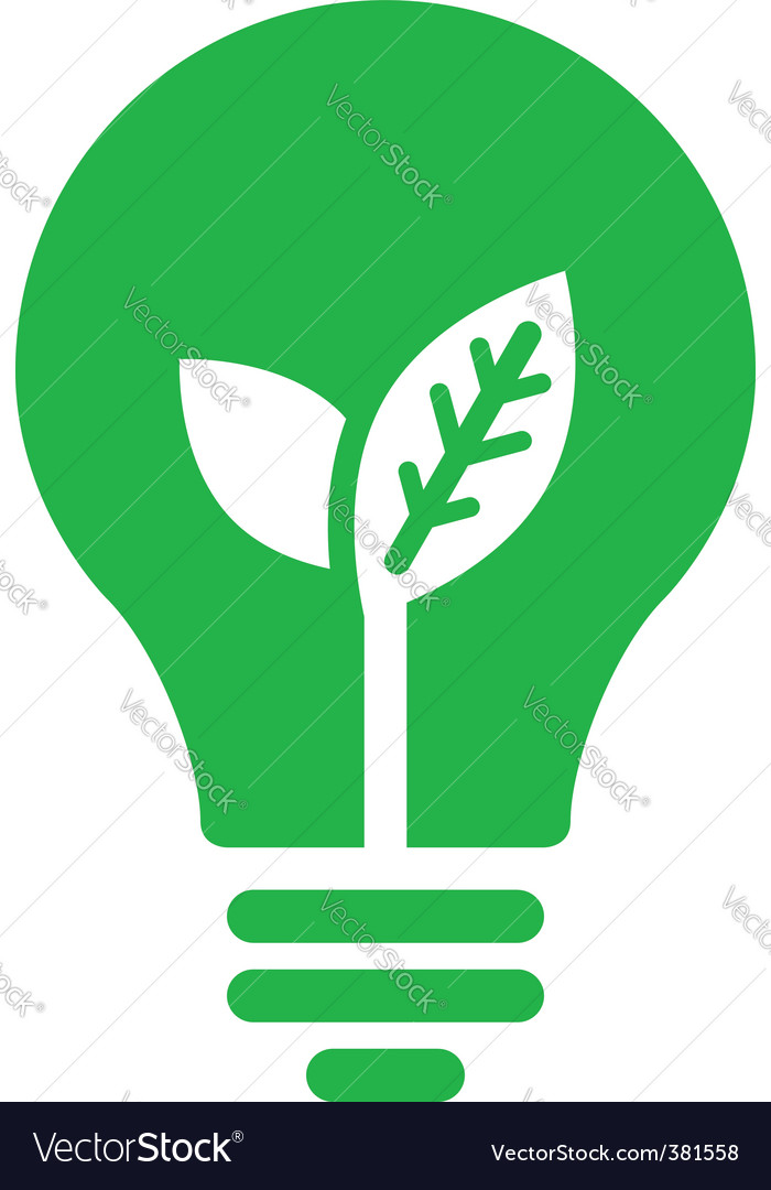 Ecology bulb icon vector | Price: 1 Credit (USD $1)