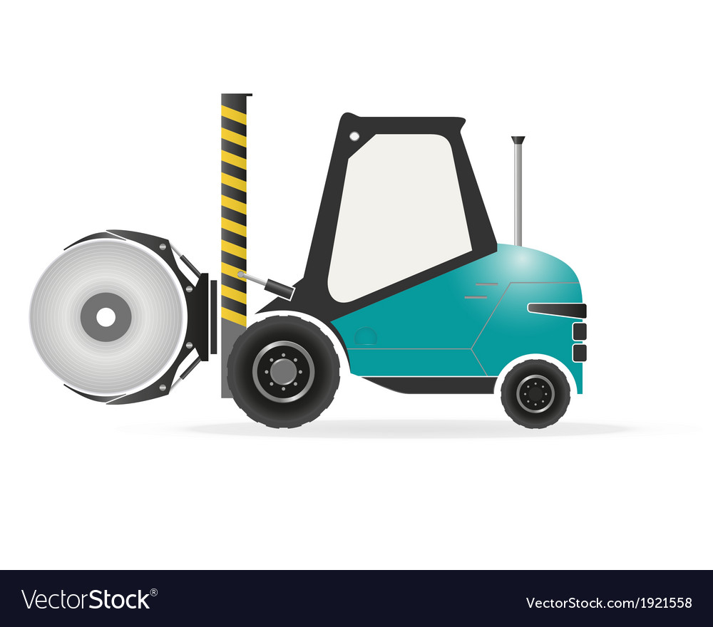 Forklift with paper roll clamp vector | Price: 1 Credit (USD $1)