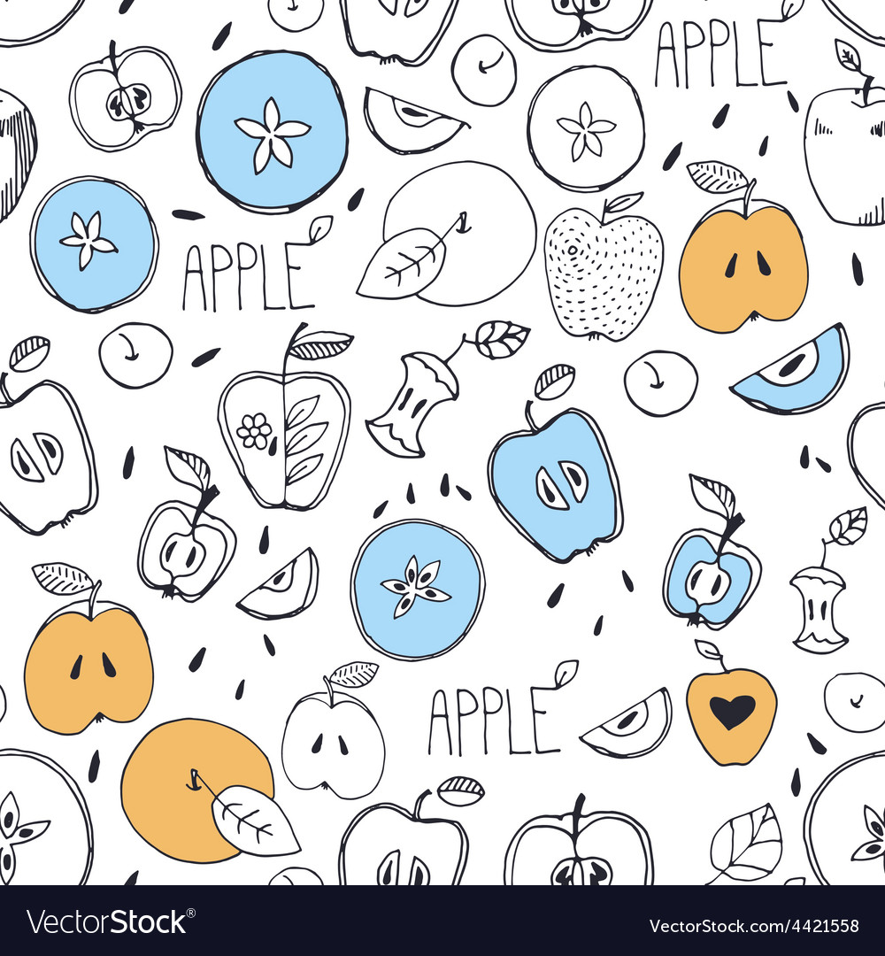 Freehand drawing seamless pattern vector | Price: 1 Credit (USD $1)