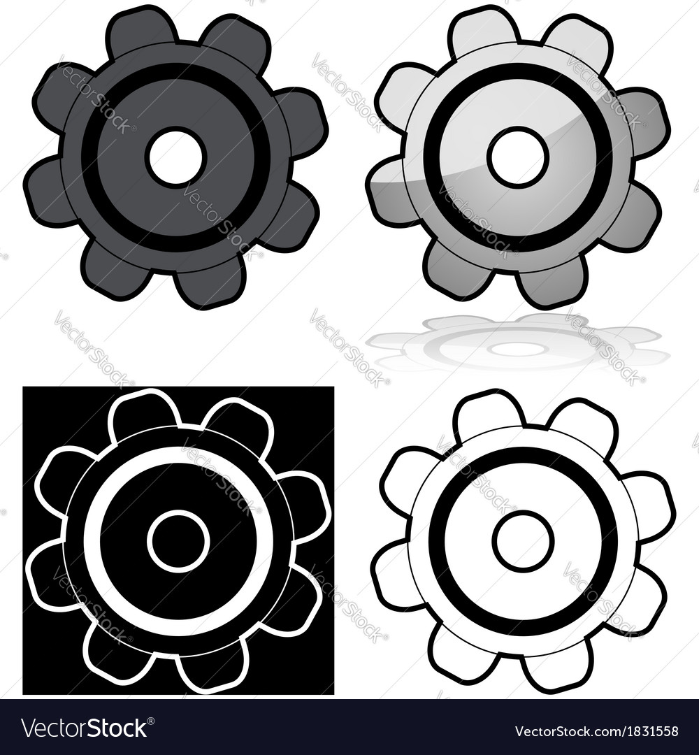Gears vector | Price: 1 Credit (USD $1)