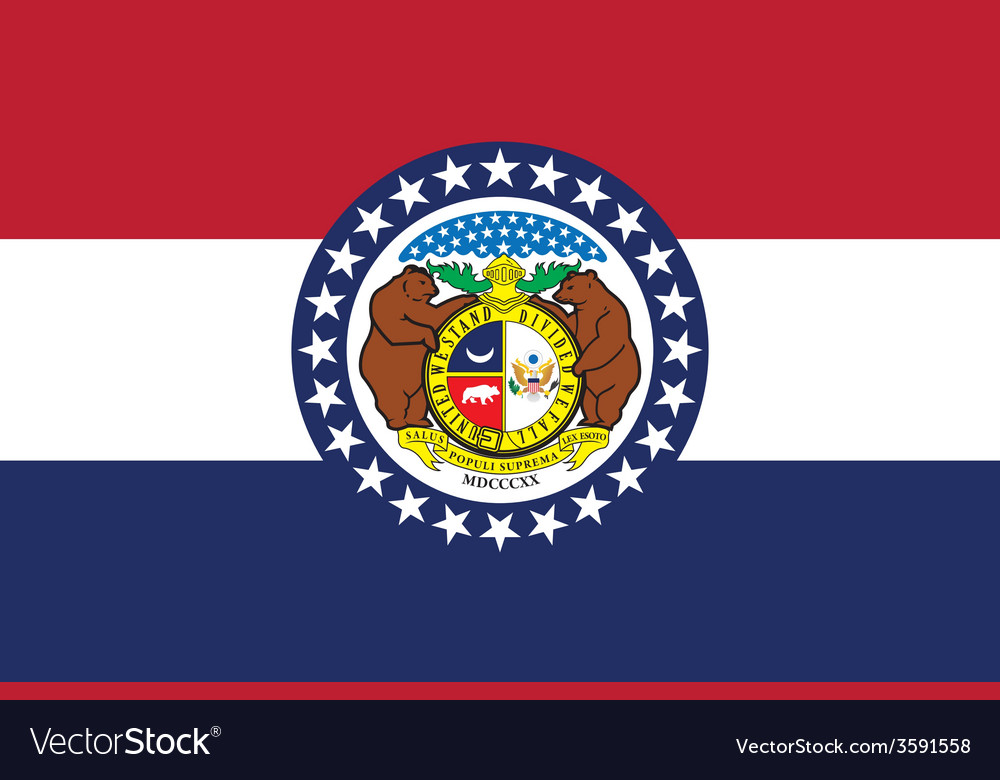 Missouri flag vector | Price: 1 Credit (USD $1)