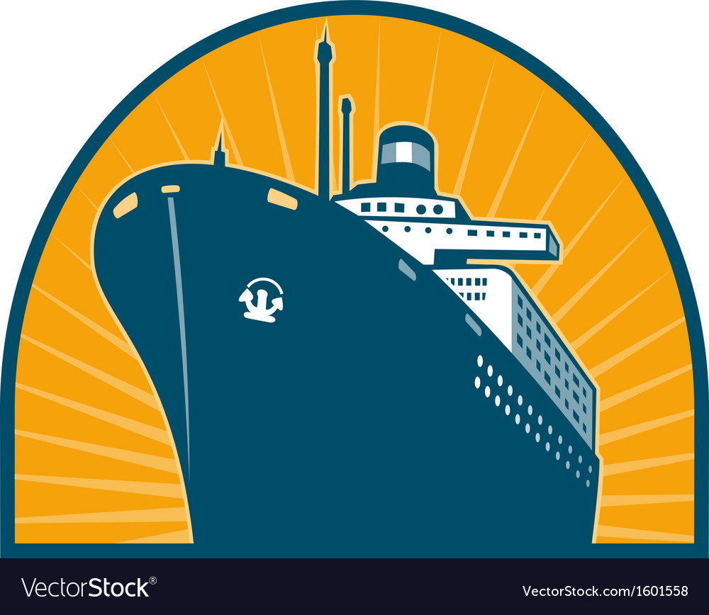 Ocean passenger liner boat ship vector | Price: 1 Credit (USD $1)