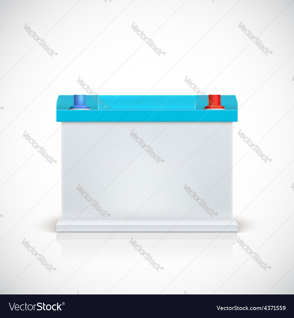 Car battery front view vector | Price: 1 Credit (USD $1)