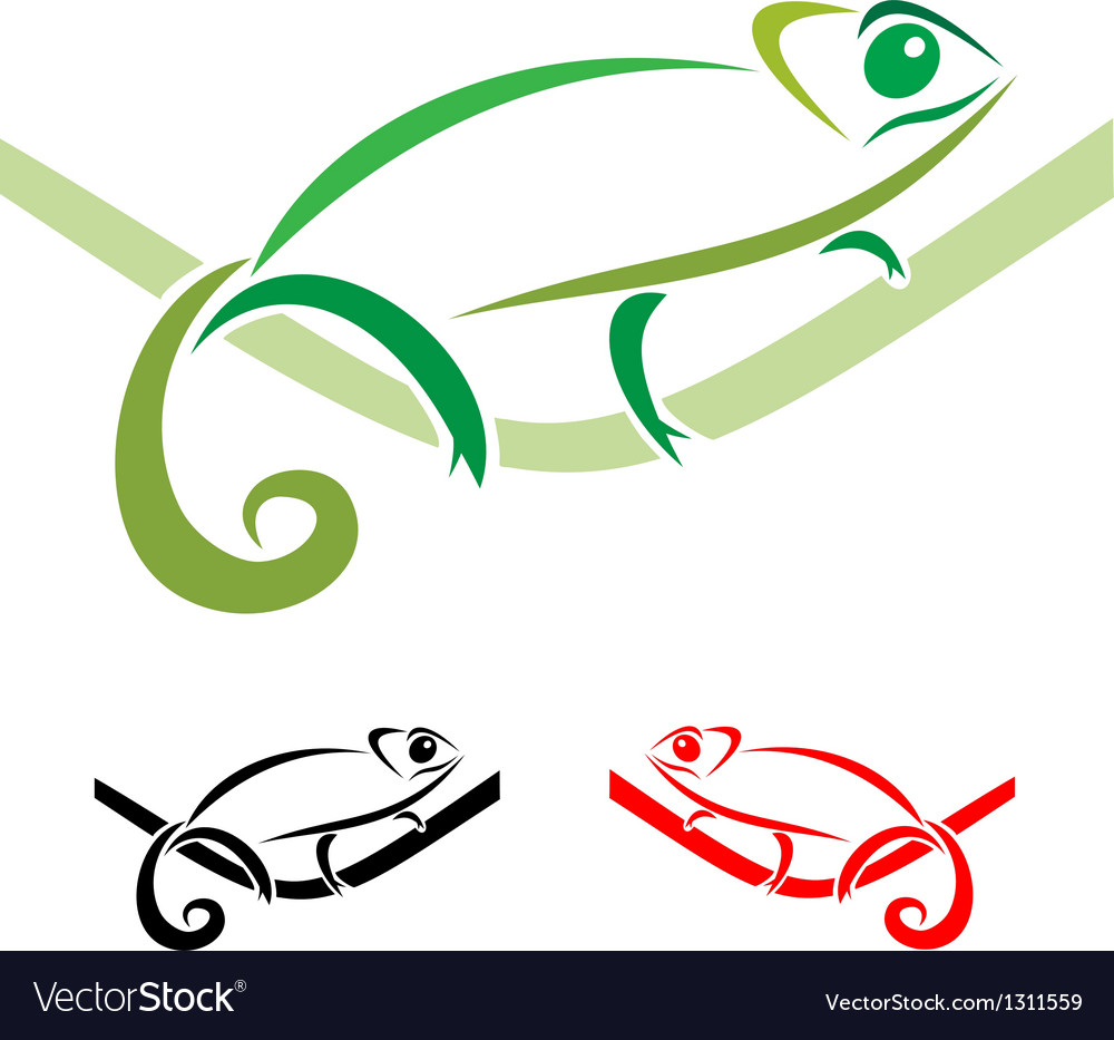 Chameleon vector | Price: 1 Credit (USD $1)
