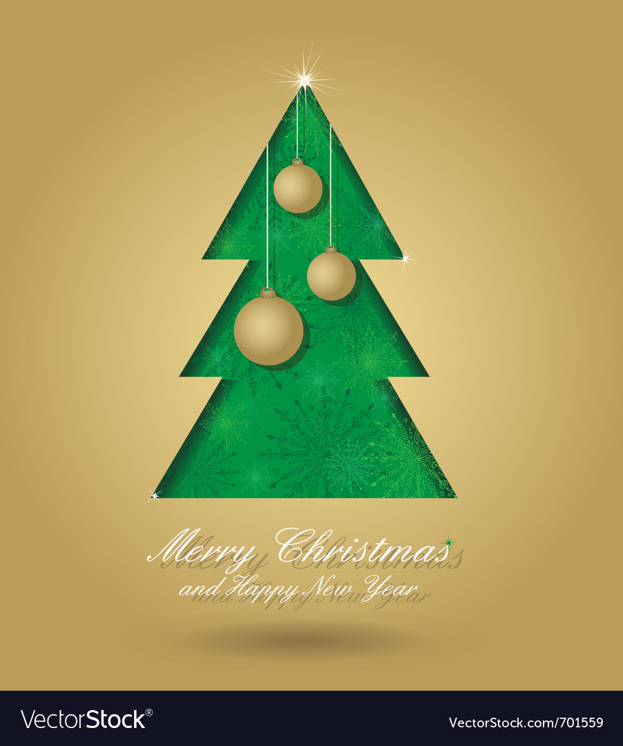 Christmas tree with balls vector | Price: 1 Credit (USD $1)
