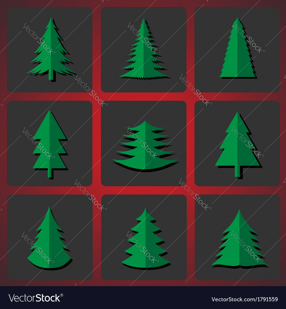 Cutting christmas trees vector | Price: 1 Credit (USD $1)
