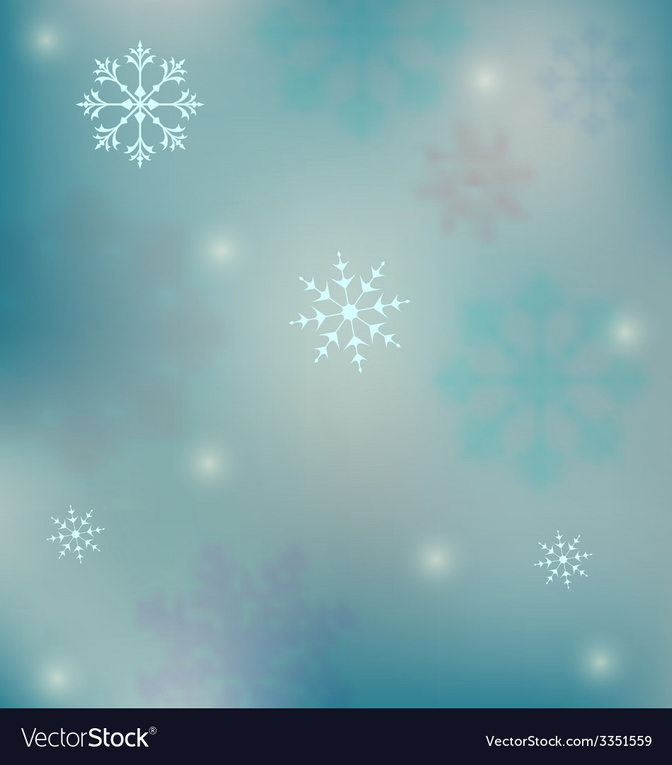 Holiday winter background with snowflakes - vector | Price: 1 Credit (USD $1)
