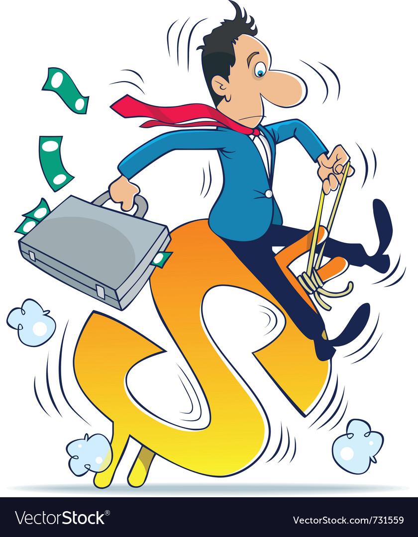 Managing money vector | Price: 3 Credit (USD $3)