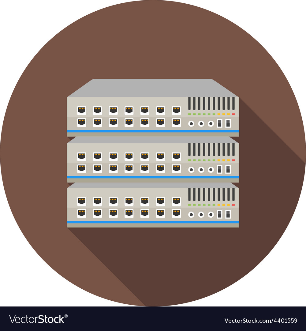 Network switch vector | Price: 1 Credit (USD $1)